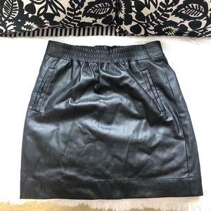 The Loft Faux Leather Skirt XXSP